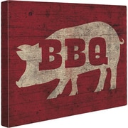 Click Wall Art 'BBQ Pig' Painting Print on Wrapped Canvas; 8'' H x 10'' W x 0.75'' D