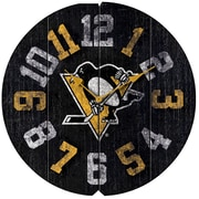 Imperial NHL 16'' Vintage Wall Clock; Pittsburgh Penguins