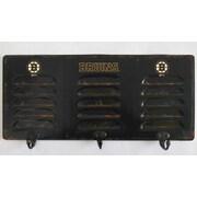 Imperial NHL 3 Hook Metal Locker Coat Rack; Pittsburgh Penguins