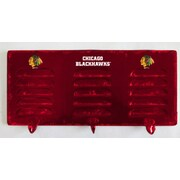 Imperial NHL 3 Hook Metal Locker Coat Rack; Chicago Blackhawks