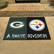 FANMATS NFL House Divided - Packers / Steelers House Divided Mat