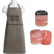 Talisman Designs 3 Piece Aromatherapy Cotton Grilling Apron and Chopping Mats Set