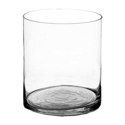 CYSExcel Glass Cylinder Vase; 12'' H x 10'' W x 10'' D WYF078279291185