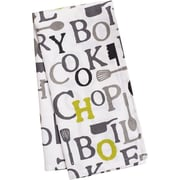 Linen Tablecloth Chef Print Kitchen Towel (Set of 2); Charcoal