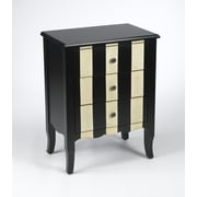 AA Importing 3 Drawer Striped Chest