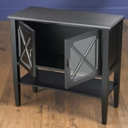AA Importing 2 Door Cabinet with Shelf; Black/Gray