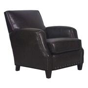 GraftonHome Sarah Marco Bonded Leather Club Chair; Dark Brown