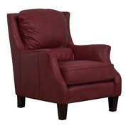 GraftonHome Ross Bonded Leather Club Chair; Red
