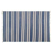 Fab Rugs Estate Hand-Woven Blue/White Indoor/Outdoor Area Rug; 6' x 9'