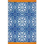 Fab Rugs Estate Blue Indoor/Outdoor Area Rug; 4' x 6'