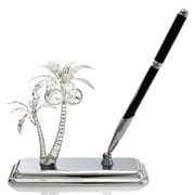 MatashiCrystal Palm Trees Pen Holder; Silver Plated