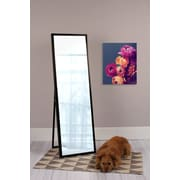 Kate and Laurel Evans Wood Framed Free-Standing Mirror; Black