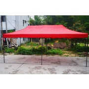 American Phoenix 10 Ft. W x 20 Ft. D Canopy with Black Frame; Red