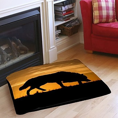 Manual Woodworkers & Weavers Wolf Silhouette Indoor/Outdoor
