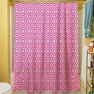 Manual Woodworkers & Weavers Green & Purple Shower Curtain; Purple