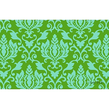 Manual Woodworkers & Weavers Francie Damask Green Area Rug; 3'1'' H x 1'10.5'' W