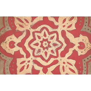 Manual Woodworkers & Weavers Golden Medallion Red Area Rug; 3'1'' H x 1'10.5'' W