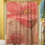 Manual Woodworkers & Weavers Golden Floral Shower Curtain
