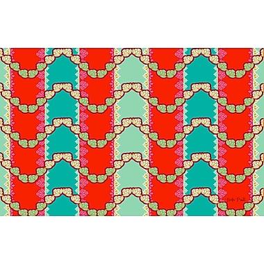 Manual Woodworkers & Weavers Stripe Mint Area Rug; 3'1'' H x 1'10.5'' W