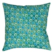 Manual Woodworkers & Weavers Aqua Bloom Dots Printed Throw Pillow; 20'' H x 20'' W x 5'' D