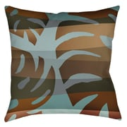 Manual Woodworkers & Weavers Tropical Leaf 4 Printed Throw Pillow; 16'' H x 16'' W x 4'' D