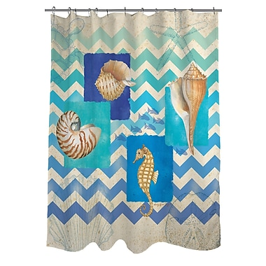 Manual Woodworkers & Weavers Deep Blue Sea Shower Curtain