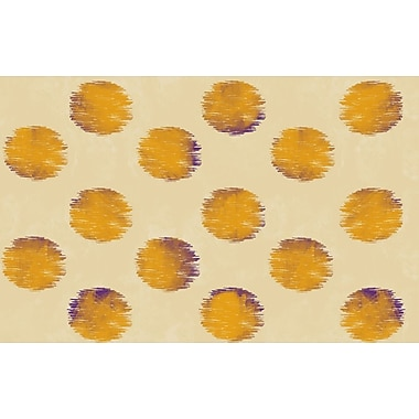 Manual Woodworkers & Weavers Big Dots Gold Area Rug; 3'1'' x 1'10.5''
