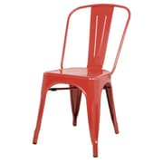New Pacific Direct Metropolis Side Chair (Set of 4); Red