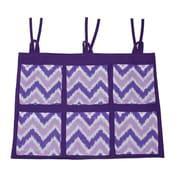 Bacati Mix N Match Zig Zag Crib Storage Organizer; Purple