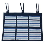 Bacati Little Sailor Stripes Wall / Crib Storage Organizer