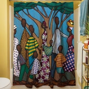 Manual Woodworkers & Weavers Family Tree Shower Curtain