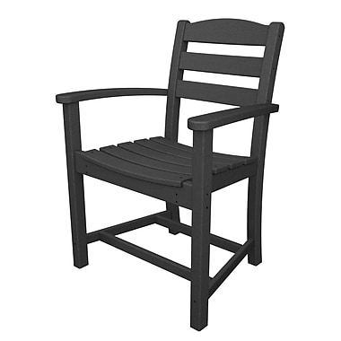 POLYWOOD La Casa Caf Dining Arm Chair; Slate Grey