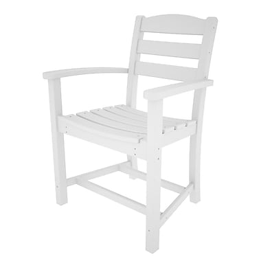 POLYWOOD La Casa Caf Dining Arm Chair; White