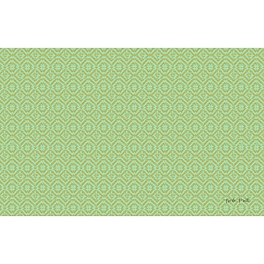 Manual Woodworkers & Weavers Woven Green Area Rug; 5'10'' x 4'4''