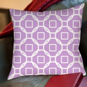 Manual Woodworkers & Weavers Modern Geometric Lavender Printed Throw Pillow; 26'' H x 26'' W x 7'' D