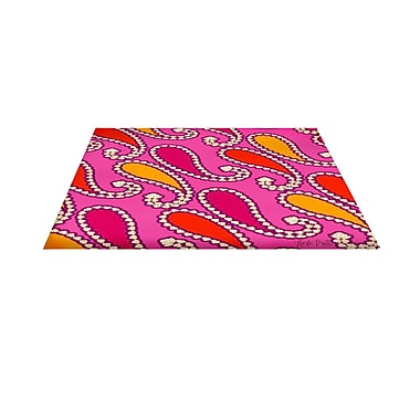 Manual Woodworkers & Weavers Paisley Pink Area Rug; 5'10'' x 4'4''