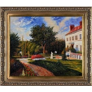 Tori Home The Garden of Les Mathurins at Pontoise by Camille Pissarro Framed Original Painting