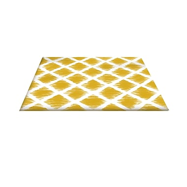 Manual Woodworkers & Weavers Diamonds Gold Area Rug; 5'10'' x 4'4''