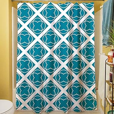 Manual Woodworkers & Weavers Modern Geometric Topaz Shower Curtain