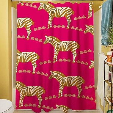 Manual Woodworkers & Weavers Zebra Shower Curtain; Purple