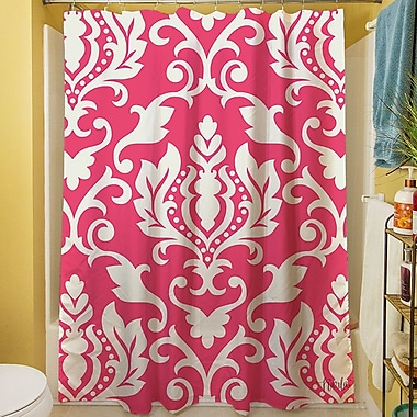 Manual Woodworkers & Weavers Francie Damask Shower Curtain; Pink