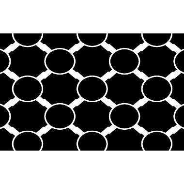 Manual Woodworkers & Weavers Band Black Area Rug; 5'10'' x 4'4''