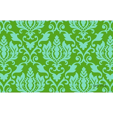 Manual Woodworkers & Weavers Francie Damask Green Area Rug; 5'10'' x 4'4''