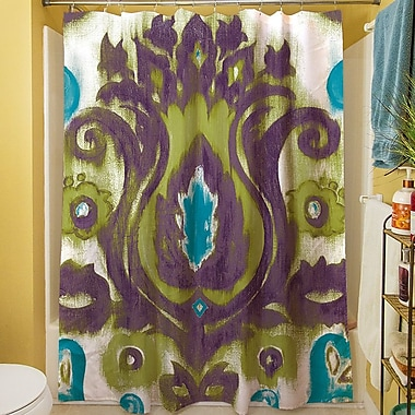Manual Woodworkers & Weavers Radiant Transitions Shower Curtain; Green