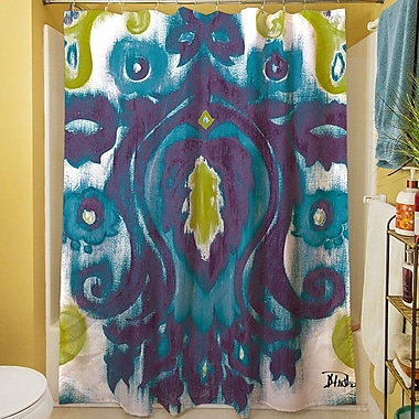 Manual Woodworkers & Weavers Radiant Transitions Shower Curtain; Blue