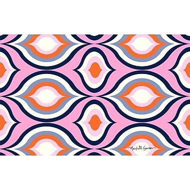 Manual Woodworkers & Weavers Britney Pink Geo Area Rug; 5'10'' x 4'4''