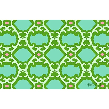 Manual Woodworkers & Weavers Francie Trellis Green Area Rug; 3'1'' x 1'10.5''