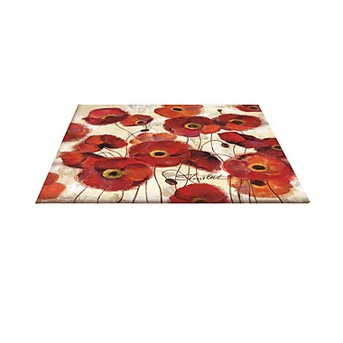 Manual Woodworkers & Weavers Bold Poppies Red Area Rug; 3'1'' H x 1'10.5'' W