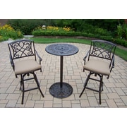 Oakland Living Grace 3 Piece Dining Set with Cushions