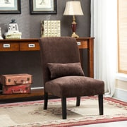 Roundhill Furniture Pisano Slipper Chair; Chocolate